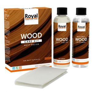 Matt Polish Wood Care Kit + Cleaner 2 x 250 ml